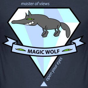 Magic Wolf T-Shirts - Männer Slim Fit T-Shirt