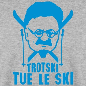trotski tue le ski personnage humour Sweat-shirts - Sweat-shirt Homme