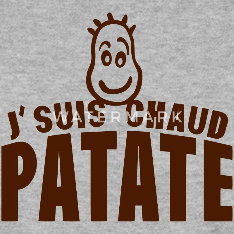 je suis chaud patate citation expression Sweat-shirts - Sweat-shirt Homme