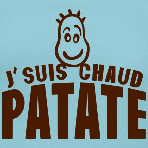 je suis chaud patate citation expression Tee shirts - T-shirt col rond U Femme
