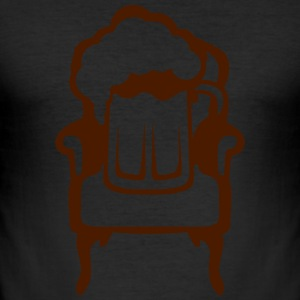 Beer on armchair glass alcohol 1 T-Shirts - Men's Slim Fit T-Shirt