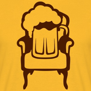 Beer on armchair glass alcohol 1 T-Shirts - Men's T-Shirt