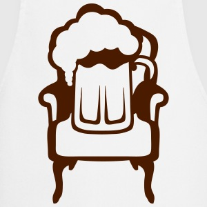 Beer on armchair glass alcohol 1  Aprons - Cooking Apron