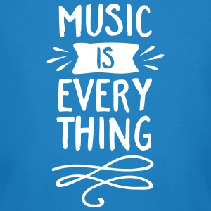 Bleu paon Music Is Everything Tee shirts - T-shirt bio Homme
