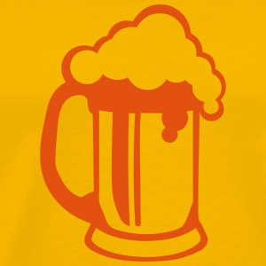 Beer alcohol glass foam 25092 T-Shirts - Men's Premium T-Shirt