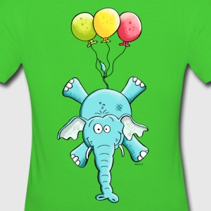 Elephant with balloons T-Shirts - Women's Organic T-shirt