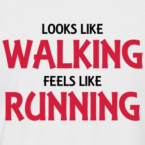 Looks like walking, feels like running T-shirts - Mannen baseballshirt korte mouw