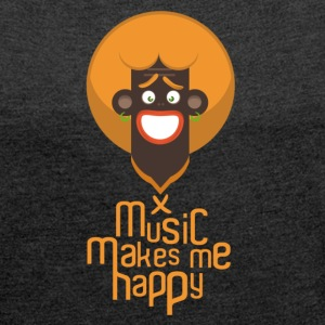 music makes ma happy 3  Tee shirts - T-shirt Femme à manches retroussées