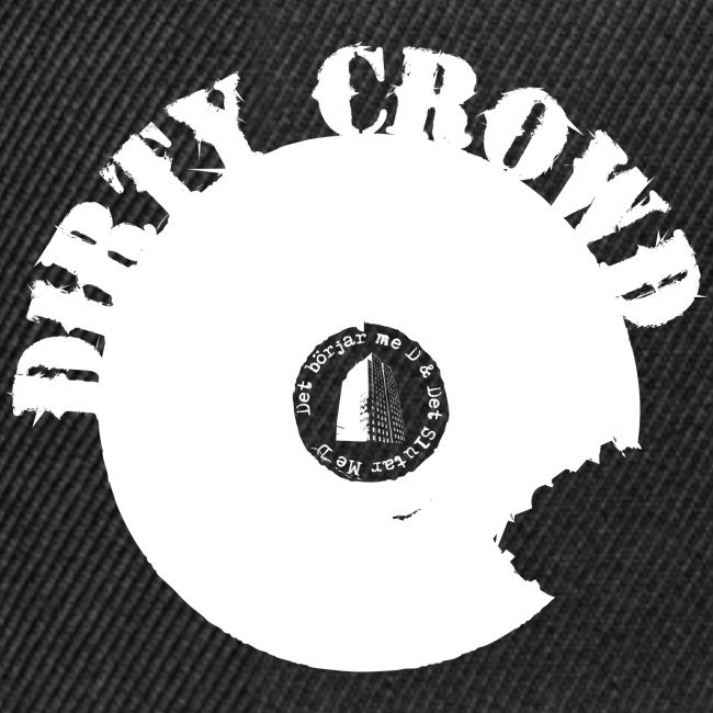 DIRTY CROWD CAP whiteprint