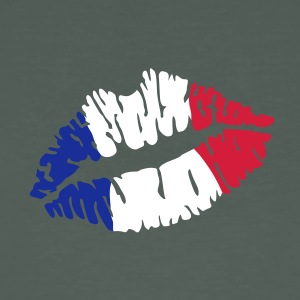 French flag lips T-Shirts - Men's Organic T-shirt