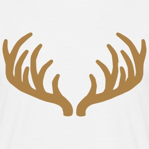 Deer Roe Buck Antlers T-Shirts - Men's T-Shirt