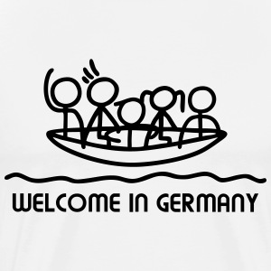 Welcome in Germany - Boot T-Shirts - Männer Premium T-Shirt