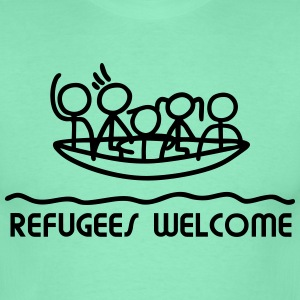 Refugees Welcome - Boot T-Shirts - Männer T-Shirt