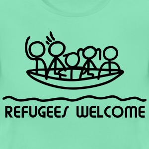 Refugees Welcome - Boot T-Shirts - Frauen T-Shirt