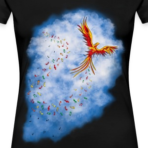 Spread MUSIC - Feuervogel - Frauen Premium T-Shirt