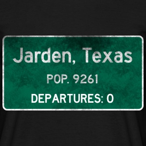 Jarden, Texas Road Sign - Männer T-Shirt