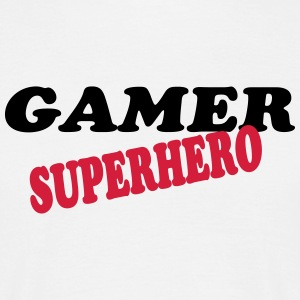 Gamer superhero T-shirts - Herre-T-shirt