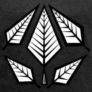 Angular Foliage T-Shirts - Women's T-shirt with rolled up sleeves