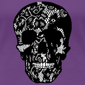 Skull coverd with Lace - filled - Frauen Premium T-Shirt