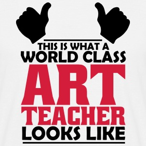 world class art teacher T-Shirts - Men's T-Shirt