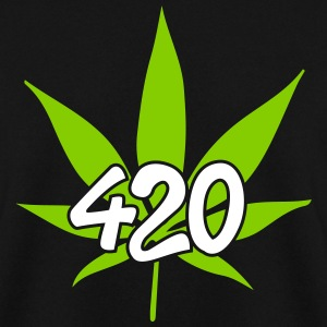 420 with leaf Pullover & Hoodies - Männer Pullover