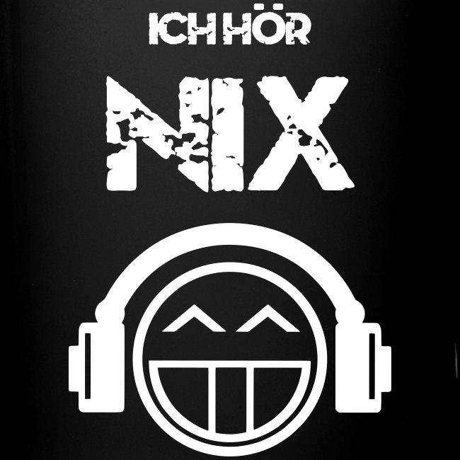Die offizielle Friedrich Nix Tasse in schwarz - Ich hör Nix!