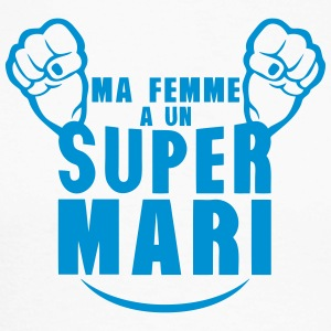 ma femme super mari poing fermer Manches longues - T-shirt baseball manches longues Homme