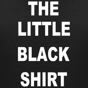 the little black shirt     black label - Frauen T-Shirt mit V-Ausschnitt