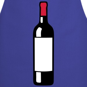 Bottle red wine 2309  Aprons - Cooking Apron