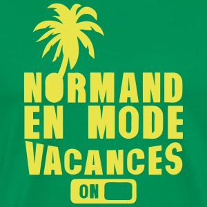 normand en mode vacance palmier on Tee shirts - T-shirt Premium Homme