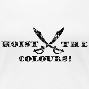 Hoist the Colours Piraten T-Shirt (Damen/Weiß) - Frauen Premium T-Shirt