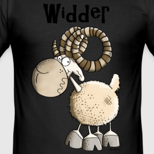 Lustiger Widder T-Shirts - Männer Slim Fit T-Shirt
