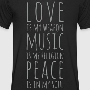Love, Music & Peace T-Shirts - Men's V-Neck T-Shirt
