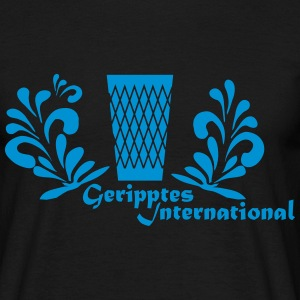 Geripptes International Frankfurt - Männer T-Shirt