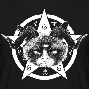Grumpy Occult Cat T-Shirts - Men's T-Shirt