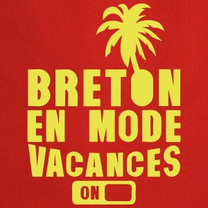 breton en mode vacance palmier on Tabliers - Tablier de cuisine
