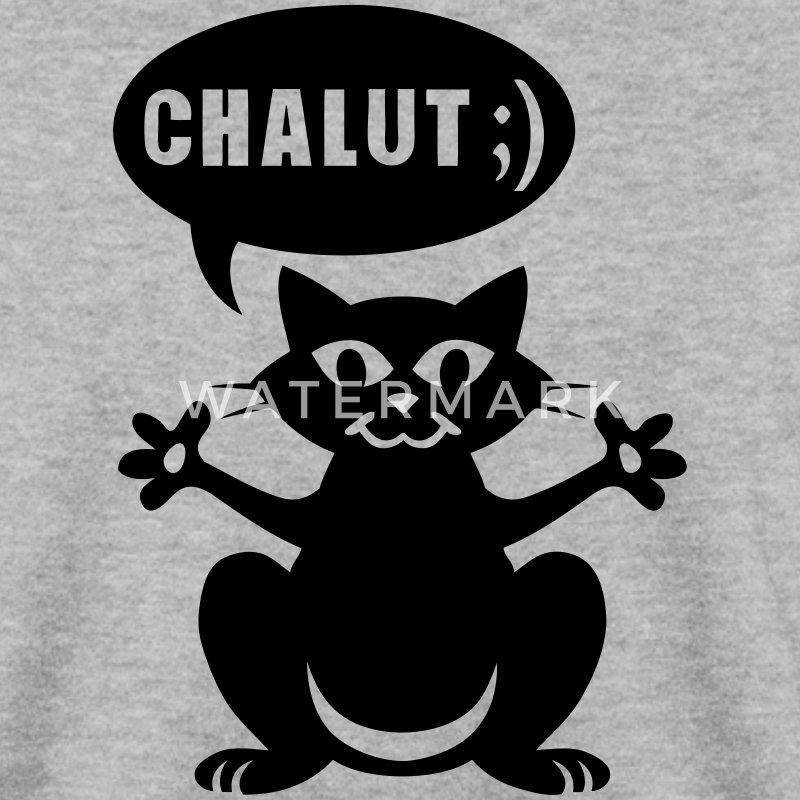 chat salut chalut humour bulle Sweat-shirts - Sweat-shirt Homme