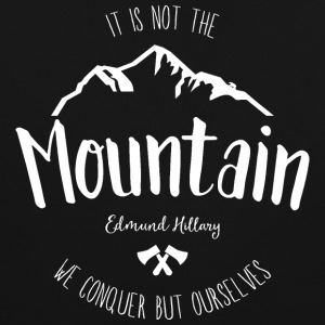 Mountain quote 2 - Contrast Colour Hoodie