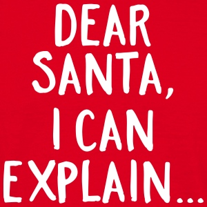 Dear Santa, I Can Explain... T-shirts - Herre-T-shirt