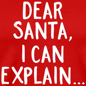 Dear Santa, I Can Explain... T-shirts - Herre premium T-shirt