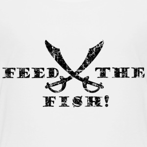 Feed the Fish Piraten T-Shirt (Kinder/Weiß) - Kinder Premium T-Shirt