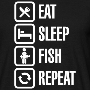 Eat - sleep  -fish - repeat T-skjorter - T-skjorte for menn