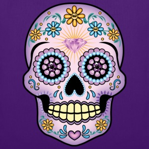Purple Sugar Skull - Tote Bag