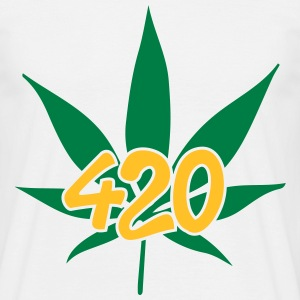 420 with leaf T-Shirts - Männer T-Shirt