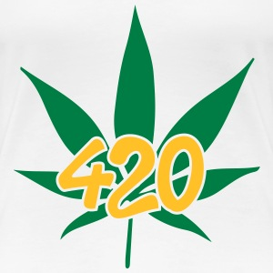 420 with leaf T-Shirts - Frauen Premium T-Shirt