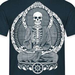 Navy Skeletton Buddha White T-shirts - Mannen T-shirt
