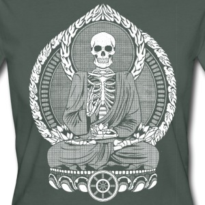 Dunkelgrau Skeletton Buddha White T-Shirts - Frauen Bio-T-Shirt