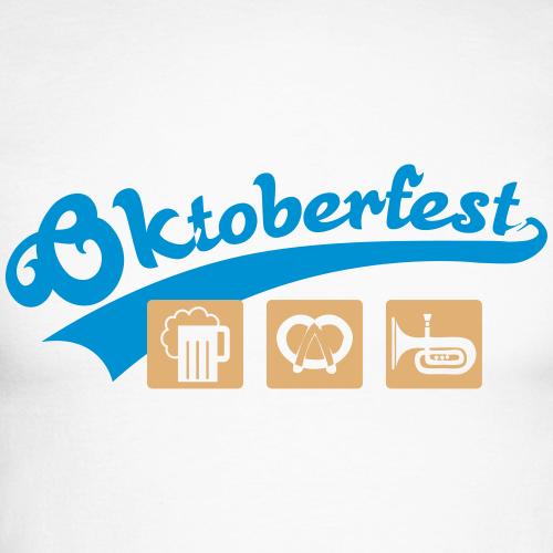 Oktoberfest Bier und Brezeln