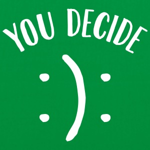 You Decide (Smiley) Bags & Backpacks - Tote Bag