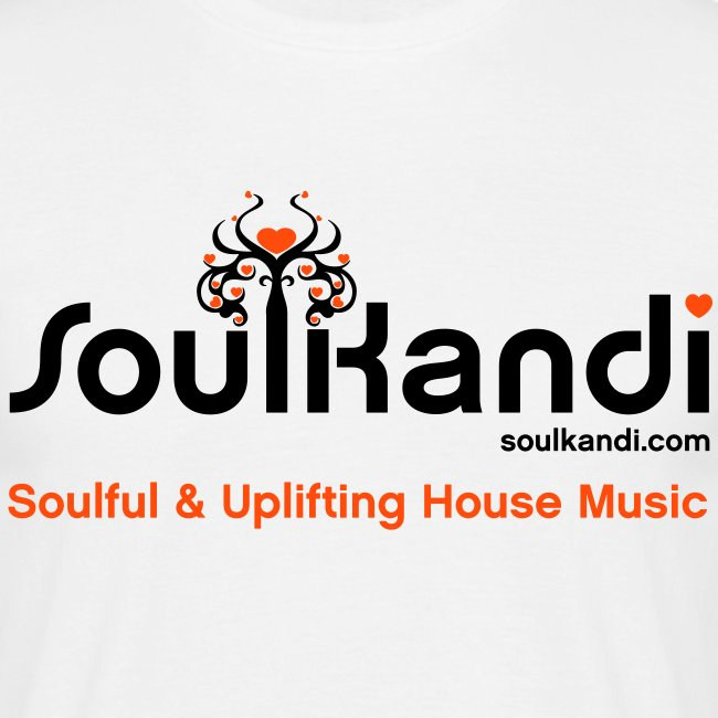 Soul Kandi T-Shirt Black & Orange Print.
